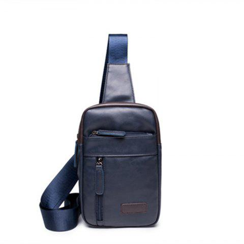 Korean Men's Chest Pack Small Crossbody Unbalance Backpack - BLUE