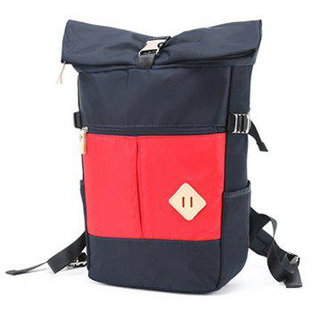 Couple  College Style Travel Backpack Portable Dual-use  Shoulder Bag - RED VERTICAL