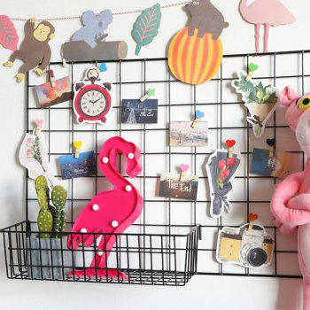 Cute Flamingo Shaped LED Lamp Children Room Decorated With Small Night Light - RED 30X13X2.8CM