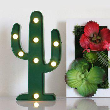 Cute Cactus Shaped LED Lamp Children Room Decorated With Small Night Light - GREEN 25X13X2.6CM