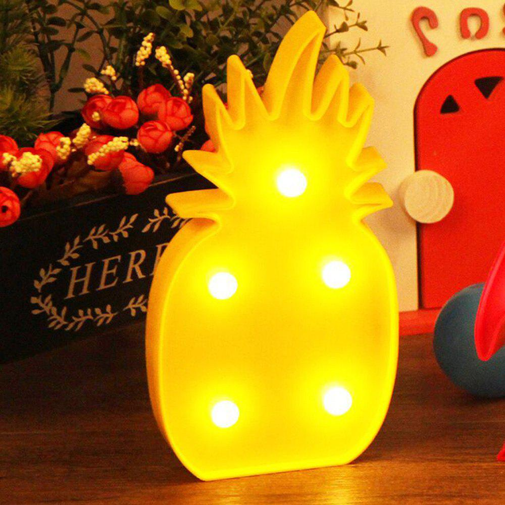Cute Pineapple Shaped LED Lamp Children Room Decorated With Small Night Light - YELLOW 25X13X2.8CM