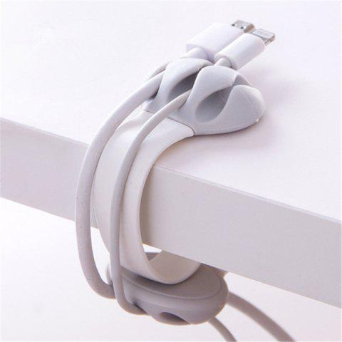 Bobbin Winder Data Cable Storage Line Fixing Device Clamp - OFF WHITE