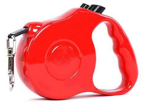 Retractable Dog Leash 5 M Dog Walking Leash for Medium Large Dogs Up To 60LBS Tangle Free One Button Break - RED