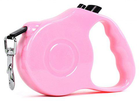 Retractable Dog Leash 5 M Dog Walking Leash for Medium Large Dogs Up To 60LBS Tangle Free One Button Break - PEACH PINK