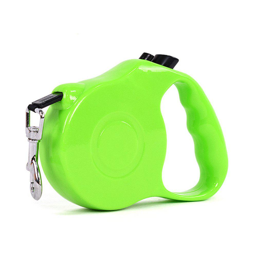 Retractable Dog Leash 5 M Dog Walking Leash for Medium Large Dogs Up To 60LBS Tangle Free One Button Break - GREEN