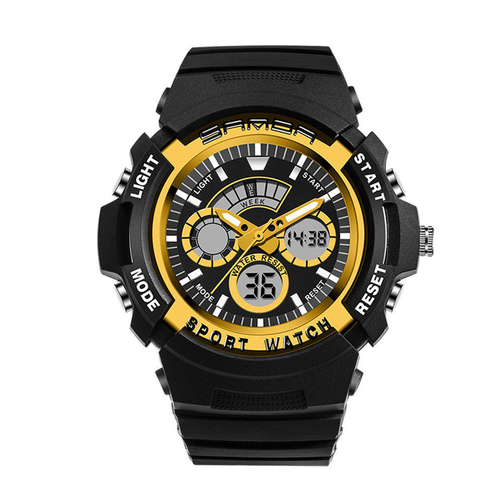 Sanda 138 1307 Fashionable Leisure Outdoor Sports Trend Multifunctional Waterproof Man Watch - GOLDEN