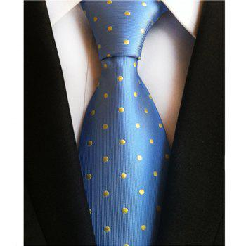 New High Quality Cloth Multi-Color Wave Point Men's Tie - BLUE