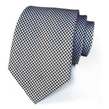 Men's Tie Set (4 Pieces / Set) - BLACK WHITE