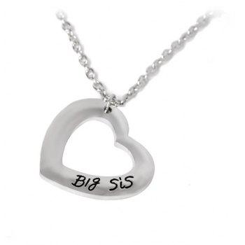 2Pcs Women's Fashion Necklace Patchwork Heart Shaped All Matched Accessory - SILVER