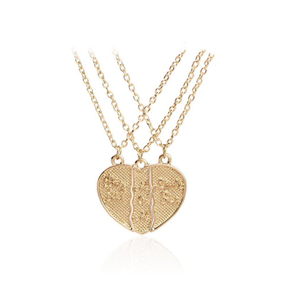 Women's Necklace Creative Design Heart Shaped Letter Brief Accessory - GOLDEN