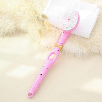 Long Handle Folding Automatically Add Body Wash Massage Hair Brush Bath Brush - PINK