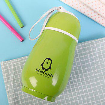 300ML Penguin Stainless Steel Vacuum Flask Insulation Cup - GREEN