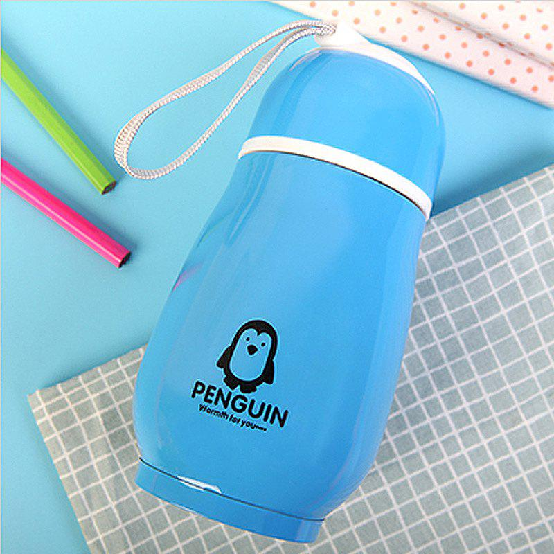 300ML Penguin Stainless Steel Vacuum Flask Insulation Cup - BLUE