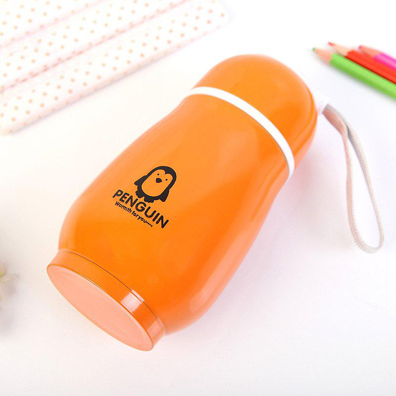 300ML Penguin Stainless Steel Vacuum Flask Insulation Cup - ORANGE
