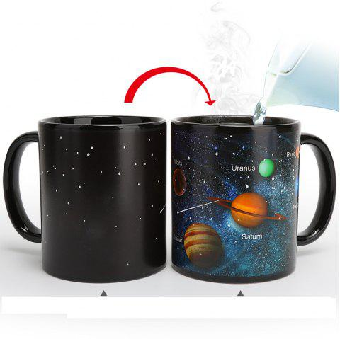 Heat Changing Mug Color Changing Cup Galaxy Magic Coffee Mug Disappearing  Heat Sensitive Porcelain Tea Cup 12 Ounce - BLACK