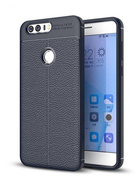 Case for Huawei Honor 8 Shockproof Back Cover Solid Color Soft TPU - CERULEAN