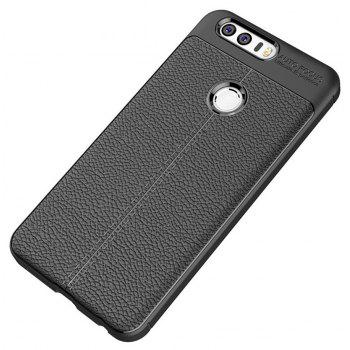 Case for Huawei Honor 8 Shockproof Back Cover Solid Color Soft TPU - BLACK