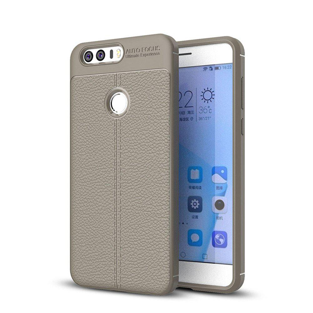 Case for Huawei Honor 8 Shockproof Back Cover Solid Color Soft TPU - GRAY