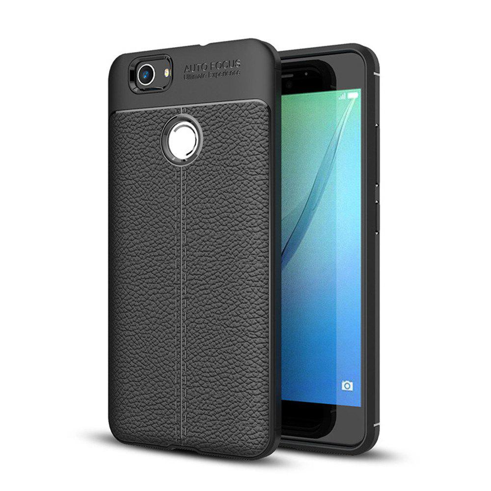 Case for Huawei Nova Shockproof Back Cover Solid Color Soft TPU - BLACK