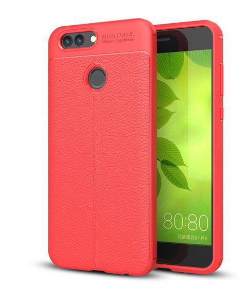 Case for Huawei Nova2 Shockproof Back Cover Solid Color Soft TPU - RED