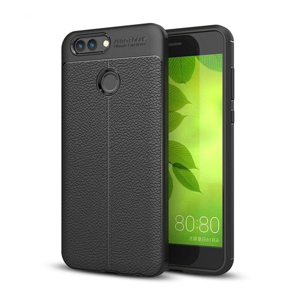 Case for Huawei Nova2 Shockproof Back Cover Solid Color Soft TPU - BLACK