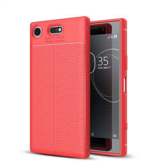 Case for Sony Xperia XZ1-Compact Shockproof Back Cover Solid Color Soft TPU - RED