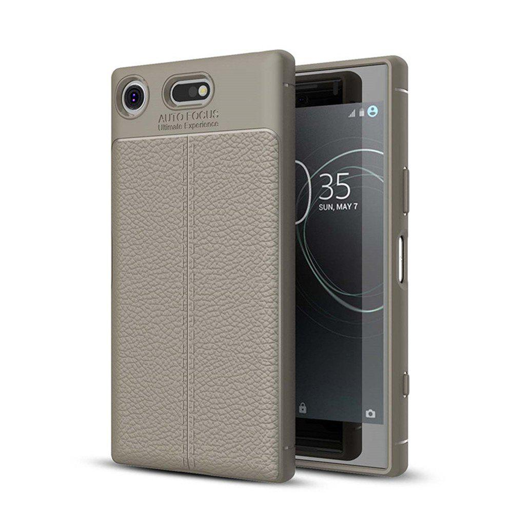Case for Sony Xperia XZ1-Compact Shockproof Back Cover Solid Color Soft TPU - GRAY