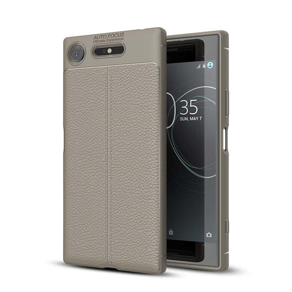Case for Sony Xperia XZ1 Shockproof Back Cover Solid Color Soft TPU - GRAY