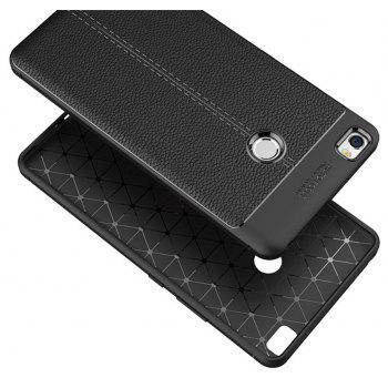 Case for Xiaomi Max Shockproof Back Cover Solid Color Soft TPU - BLACK