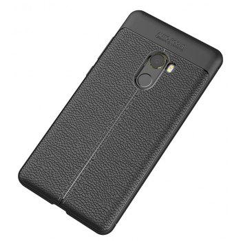 Case for Xiaomi Mix2 Shockproof Back Cover Solid Color Soft TPU - BLACK