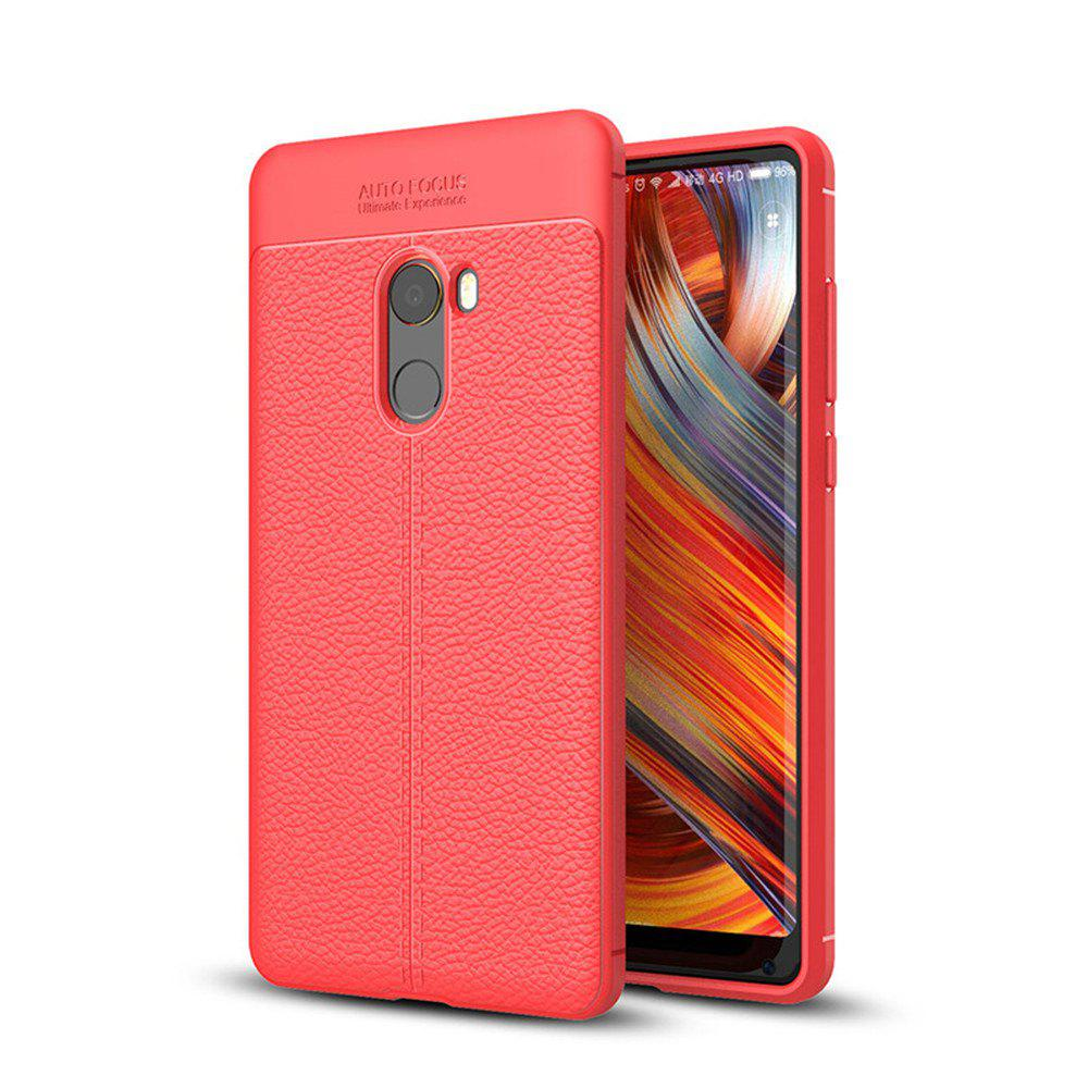 Case for Xiaomi Mix2 Shockproof Back Cover Solid Color Soft TPU - RED