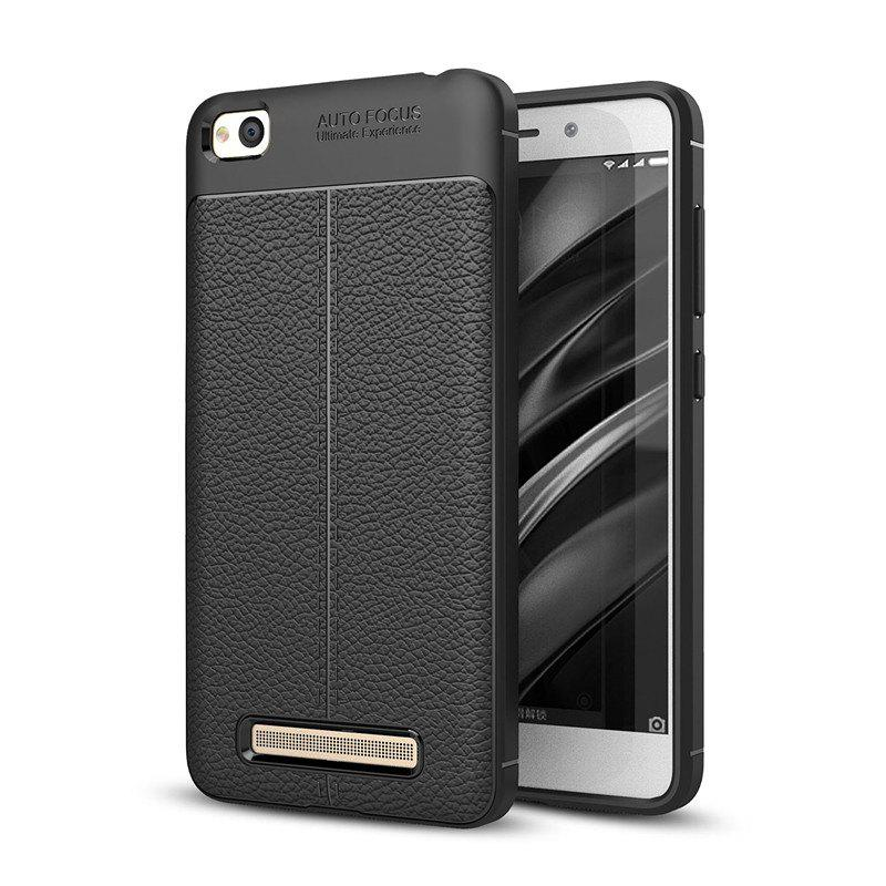 Case for Redmi 4A Shockproof Back Cover Solid Color Soft TPU - BLACK