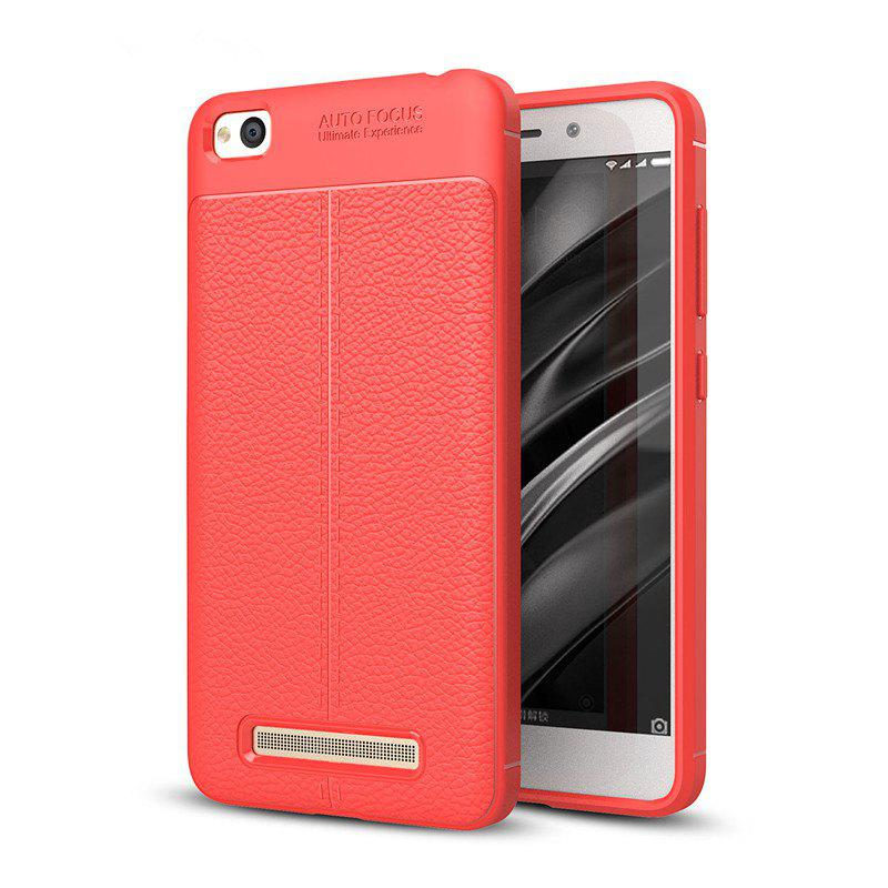 Case for Redmi 4A Shockproof Back Cover Solid Color Soft TPU - RED