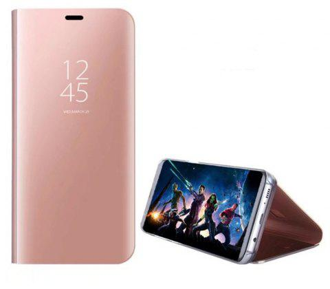 Case Cover for Huawei P8 Lite 2017 With Stand Plating Mirror Flip Full Body Solid Color Hard - ROSE GOLD