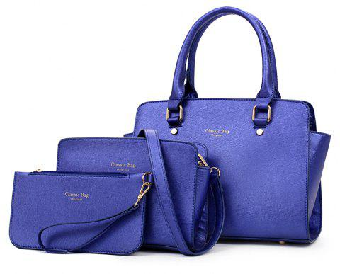 Three-piece Simple Fashion Shoulder Messenger Bag Handbag - DEEP BLUE