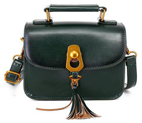 Simple Personality Shoulder Messenger Bag - GREEN