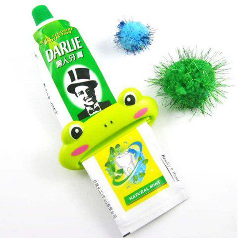 Animal Shaped Plastic Toothpaste Dispenser Cartoon Toothpaste Squeezer Tube Rolling Holder Squeezer - GREEN