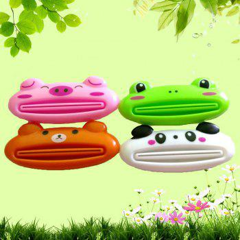 Animal Shaped Plastic Toothpaste Dispenser Cartoon Toothpaste Squeezer Tube Rolling Holder Squeezer - WHITE