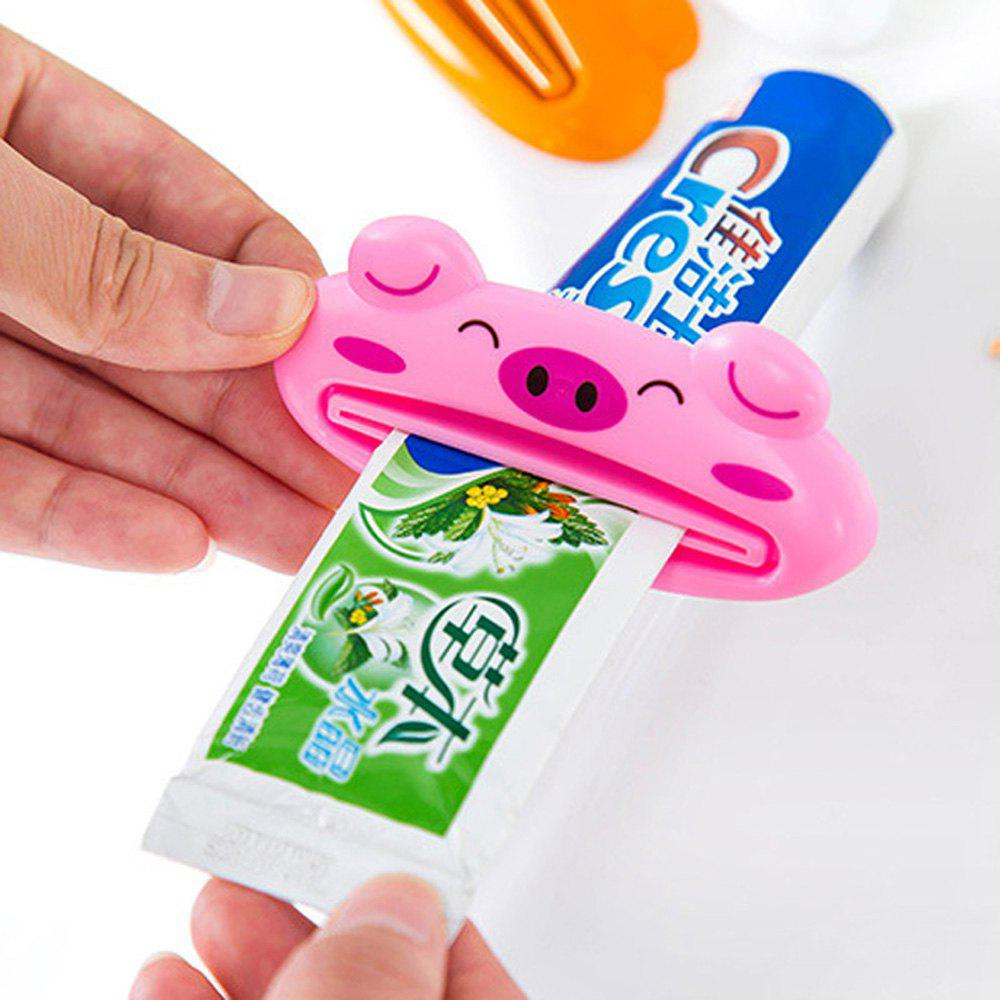 Animal Shaped Plastic Toothpaste Dispenser Cartoon Toothpaste Squeezer Tube Rolling Holder Squeezer - PINK