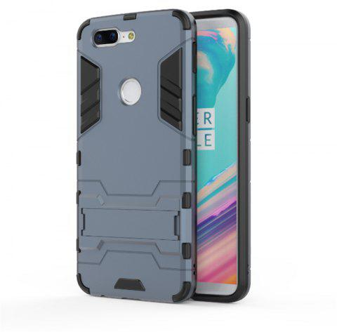 Cover Case for OnePlus 5T TPU Armor Shockproof Rugged Protective Back - CADETBLUE