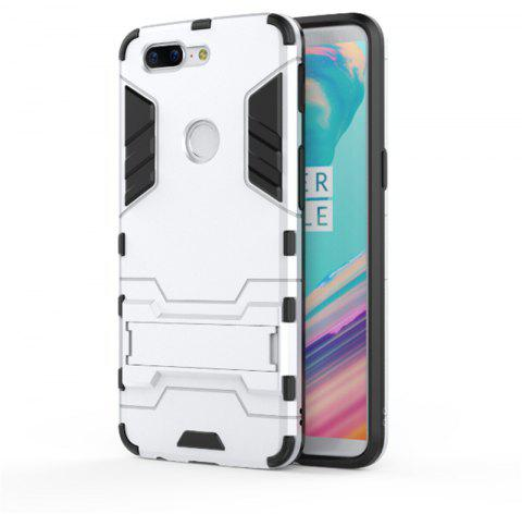 Cover Case for OnePlus 5T TPU Armor Shockproof Rugged Protective Back - WHITE