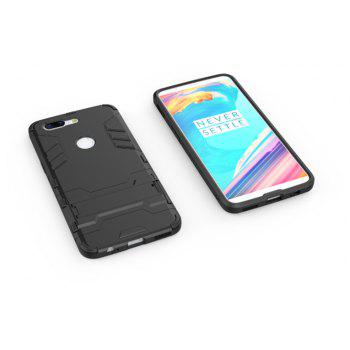 Cover Case for OnePlus 5T TPU Armor Shockproof Rugged Protective Back - BLACK