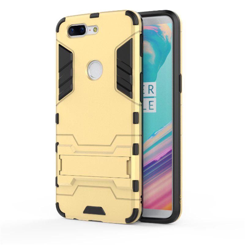Cover Case for OnePlus 5T TPU Armor Shockproof Rugged Protective Back - GOLDEN