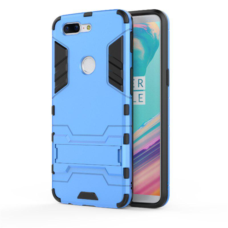 Cover Case for OnePlus 5T TPU Armor Shockproof Rugged Protective Back - BLUE