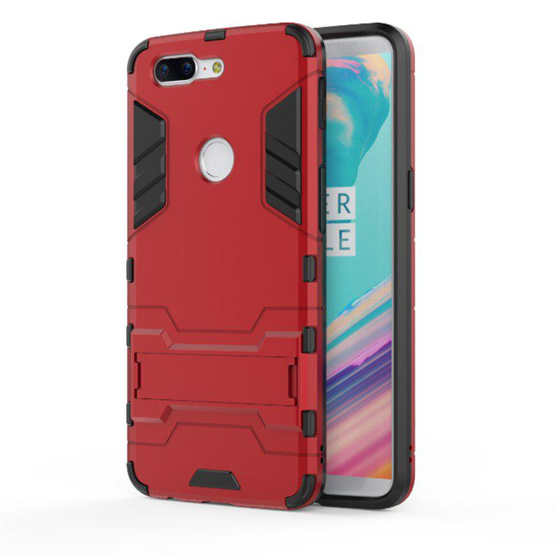 Cover Case for OnePlus 5T TPU Armor Shockproof Rugged Protective Back - RED