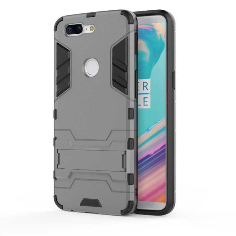 Cover Case for OnePlus 5T TPU Armor Shockproof Rugged Protective Back - GRAY