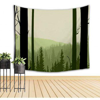 Green Tree Mountain Hand Painted Tapestry Walls Decorated with Beach Blankets - COLORMIX W39.4INCH*L59.1INCH