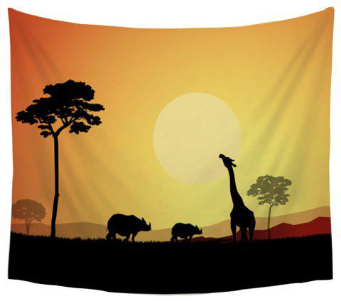 Animal Silhouette Tapestry Wall Hanging  Decorated Beach Blanket Bedspread Tablecloth - COLORMIX W39.4INCH*L59.1INCH