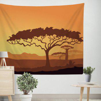 Plant Tree Tapestry Wall Hanging  Adorn Sofa Blanket Bedspread - COLORMIX W39.4INCH*L59.1INCH