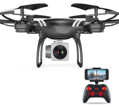 Gyro WiFi Quadcopter HD Camera RC Drone Aerial Photography Helicopter - BLACK